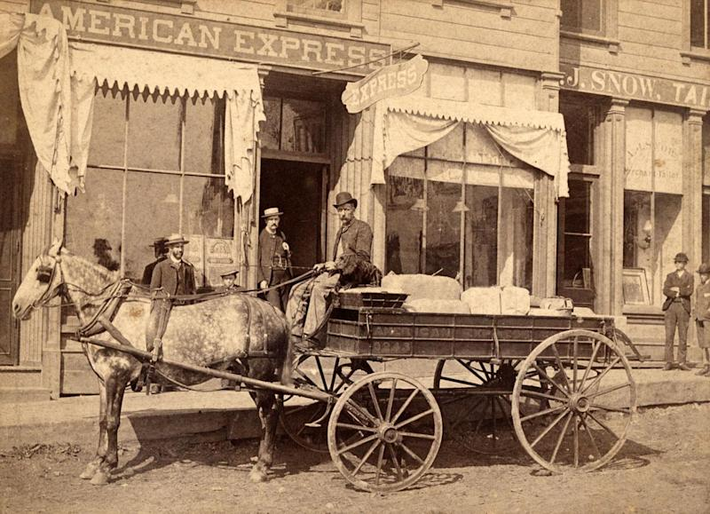 American Express delivery cart, 1878 (Smithsonian National Postal Museum)