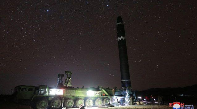 The North Korean government released a photo of the Hwasong-15 intercontinental ballistic missile. Photo: AAP