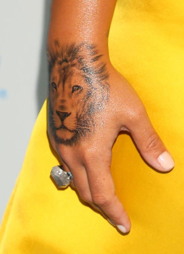 Demi Lovato's detailed lion was the creation of the Bang Bang tattoo studio [Photo: Getty]