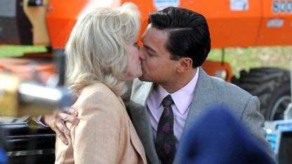 PDA Alert: Leo Makes Out With Older Woman