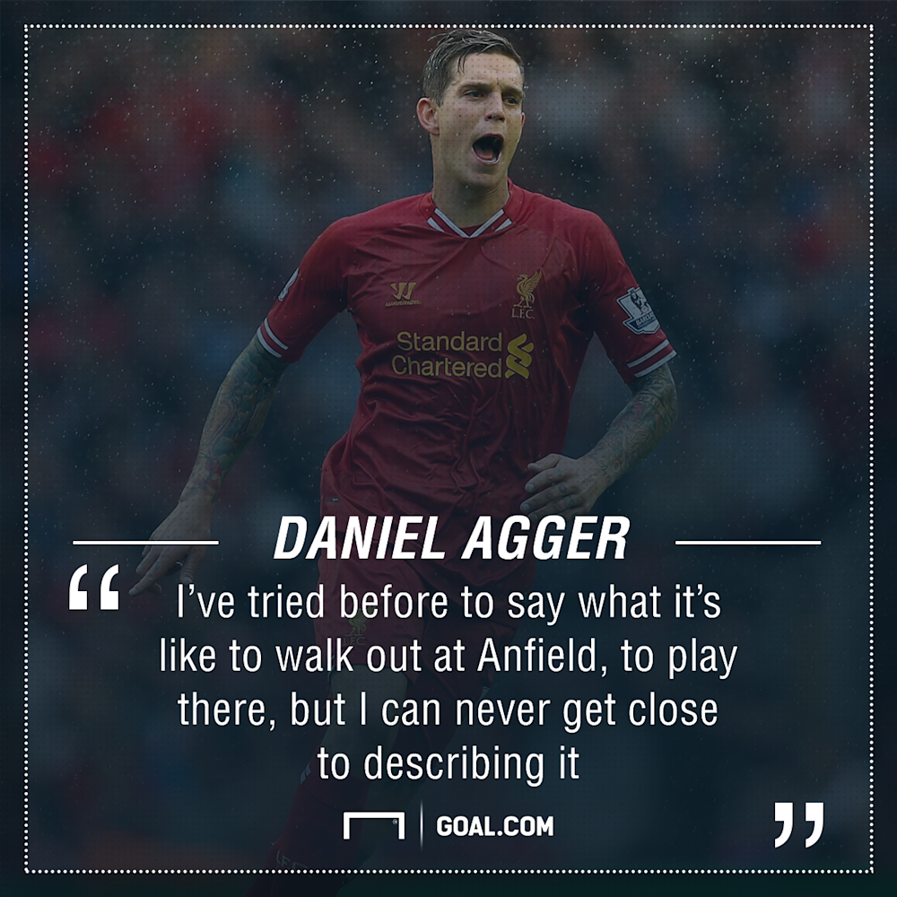 GFX Daniel Agger Liverpool Quote