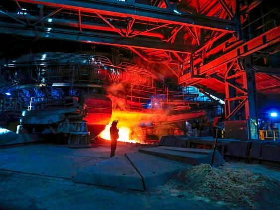 The furnace at Scunthorpe (AFP)