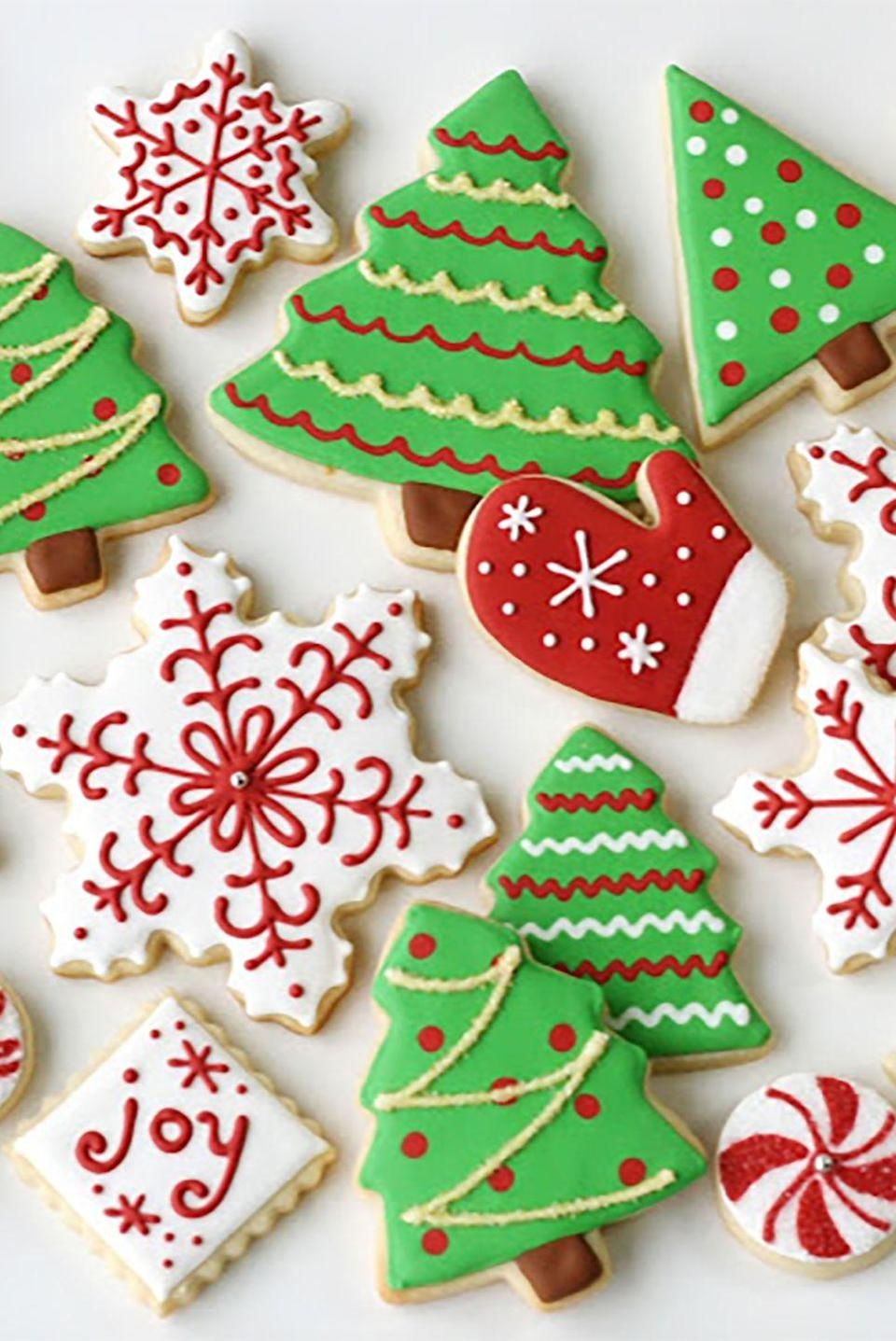 "<p>These festive sugar cookies are sure to be a holiday hit with your friends and family. </p><p><strong>Get the recipe at <a href=""http://www.glorioustreats.com/2010/12/christmas-cookies-galore.html"" rel=""nofollow noopener"" target=""_blank"" data-ylk=""slk:Glorious Treats"" class=""link rapid-noclick-resp"">Glorious Treats</a>.</strong></p>"