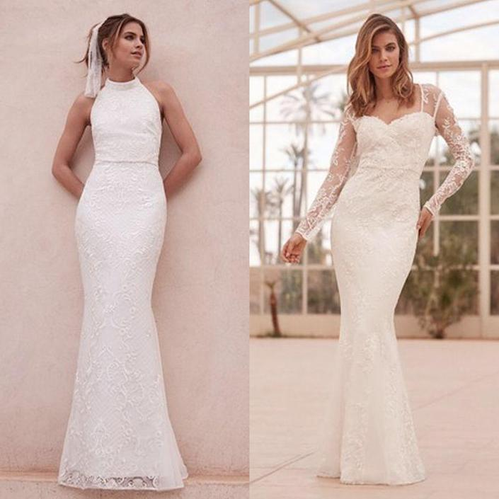 "<p><a href=""https://www.lipsy.co.uk/store/maxi-dresses/lipsy-bridal-cowl-neck-satin-maxi-dress/product-is-ef00610_001"" rel=""nofollow noopener"" target=""_blank"" data-ylk=""slk:Lipsy's debut bridal collection"" class=""link rapid-noclick-resp"">Lipsy's debut bridal collection</a> proved so popular that they're going to continue releasing new ranges for the near future. This range sells out quickly so there are only a few sizes remaining in each of the snazzy styles.</p><p><a class=""link rapid-noclick-resp"" href=""https://go.redirectingat.com?id=127X1599956&url=https%3A%2F%2Fwww.next.co.uk%2Fstyle%2Fesl91363%23l91363&sref=http%3A%2F%2Fwww.cosmopolitan.com%2Fuk%2Ffashion%2Fstyle%2Fg4924%2Fhigh-street-brands-that-sell-wedding-dresses%2F"" rel=""nofollow noopener"" target=""_blank"" data-ylk=""slk:BUY NOW"">BUY NOW</a> Meghan sequin lace high neck dress (L), £220</p><p><a class=""link rapid-noclick-resp"" href=""https://go.redirectingat.com?id=127X1599956&url=https%3A%2F%2Fwww.next.co.uk%2Fstyle%2Fesl91365%23l91365&sref=http%3A%2F%2Fwww.cosmopolitan.com%2Fuk%2Ffashion%2Fstyle%2Fg4924%2Fhigh-street-brands-that-sell-wedding-dresses%2F"" rel=""nofollow noopener"" target=""_blank"" data-ylk=""slk:BUY NOW"">BUY NOW</a> Vanessa floral embroidered lace dress (R), £200</p>"