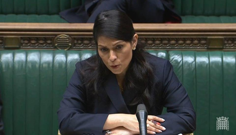 Home Secretary Priti Patel condemned the 'appalling' attack (House of Commons/PA) (PA Wire)