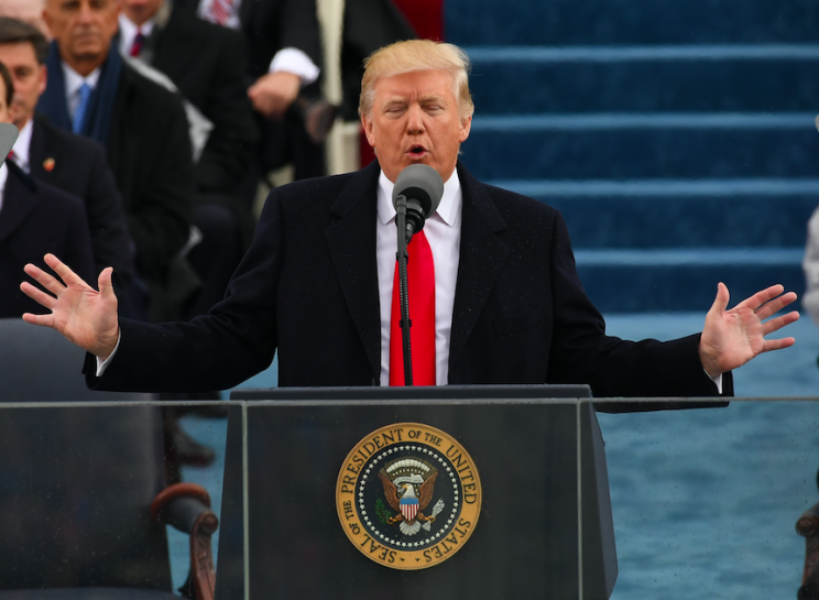 Alternative facts: Donald Trump disputed claims about crowd numbers on Inauguration Day (Rex)