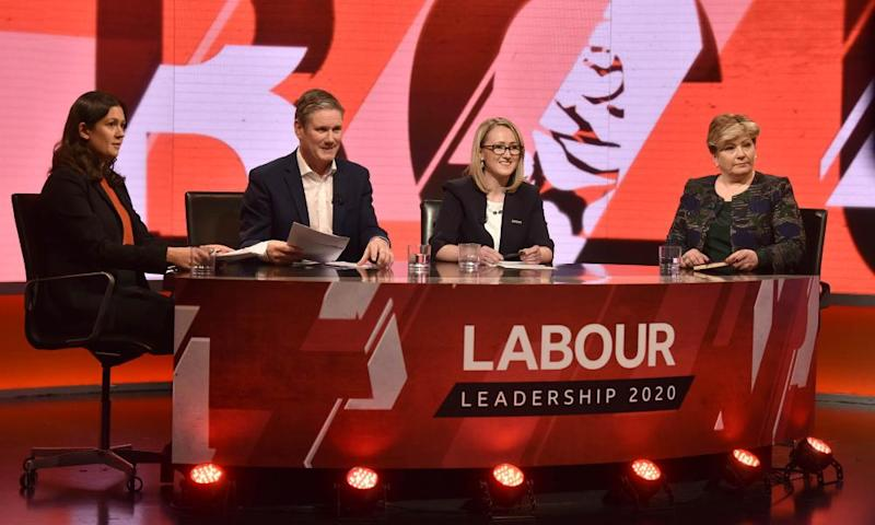 Labour leadership candidates Lisa Nandy, Keir Starmer, Rebecca Long-Bailey and Emily Thornberry.
