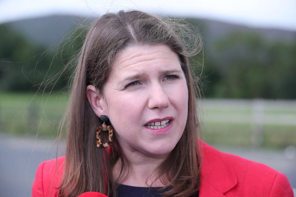 Embargoed to 0001 Monday August 26 File photo dated 12/8/2019 of Jo Swinson who has said that the cross-party talks convened by Jeremy Corbyn to prevent a no-deal Brexit should examine how to seize control of Commons business, oust Boris Johnson and install an emergency government of national unity.