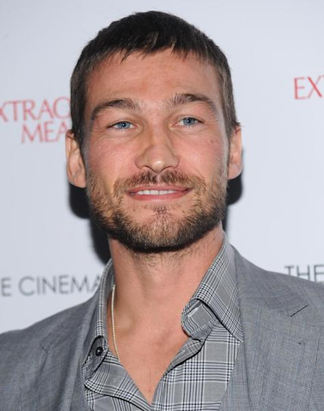 "FILE - This Thursday, Jan. 21, 2010 file photo shows actor Andy Whitfield at a screening of ""Extraordinary Measures"" in New York. Whitfield, the 37-year-old star of the cable TV series Spartacus: Blood and Sand, died of non-Hodgkins Lymphoma in Australia on Sunday, Sept. 11, 2011. (AP Photo/Evan Agostini, File)"