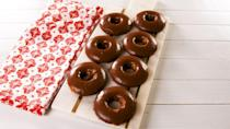 """<p>These almond flour based donuts are light and fluffy, and the addition of a smooth chocolate glaze really puts them over the top.<br></p><p>Get the recipe from <a href=""""https://www.delish.com/cooking/nutrition/a27572637/best-keto-donuts-recipe/"""" rel=""""nofollow noopener"""" target=""""_blank"""" data-ylk=""""slk:Delish"""" class=""""link rapid-noclick-resp"""">Delish</a>.</p>"""