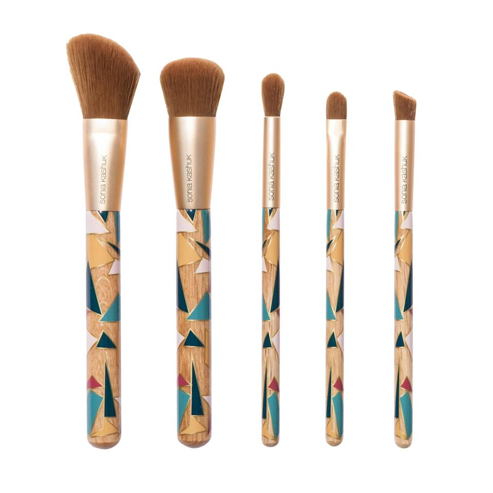 """<p>""""Even for people that don't do tons of makeup, Sonia Kashuk's brushes are always a safe bet. They're really high quality, and she does really fun designs each season, so I myself kind of feel compelled to collect all of the different prints."""" —<em>Marianne Mychaskiw, associate beauty editor</em></p><p>Buy it <a href=""""http://goto.target.com/c/249354/81938/2092?subId1=IS%2CHOL%2CGAL%2CInStyleEditorsSharetheBestGiftsYouCanBuyfromtheDrugstore%2Cacheng1271%2C201712%2CT&u=https%3A%2F%2Fwww.target.com%2Fp%2Fsonia-kashuk-174-limited-edition-geo-brush-set-5pc%2F-%2FA-52014383%23lnk=sametab"""" rel=""""nofollow noopener"""" target=""""_blank"""" data-ylk=""""slk:here"""" class=""""link rapid-noclick-resp"""">here</a> for $20.</p>"""