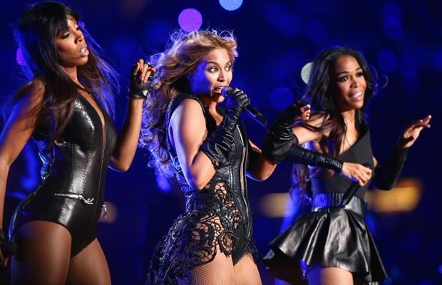 NEW ORLEANS, LA - FEBRUARY 03:  Kelly Rowland, Beyonce Knowles and Michelle Williams of Destinys Child perform during the Pepsi Super Bowl XLVII Halftime Show at Mercedes-Benz Superdome on February 3, 2013 in New Orleans, Louisiana.  (Photo by Christopher Polk/Getty Images)
