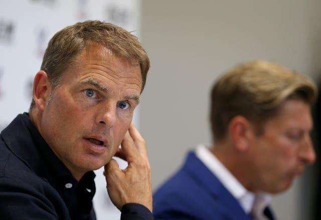 De Boer left Palace 77 days after being unveiled as their new manager