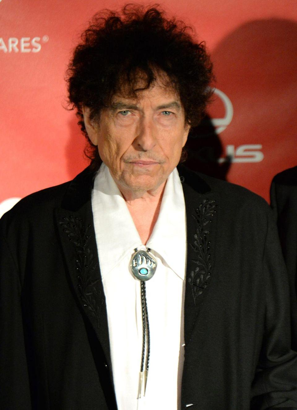 <p>Bob Dylan attends the 25th anniversary MusiCares 2015 Person Of The Year Gala on February 6, 2015 in Los Angeles.</p>