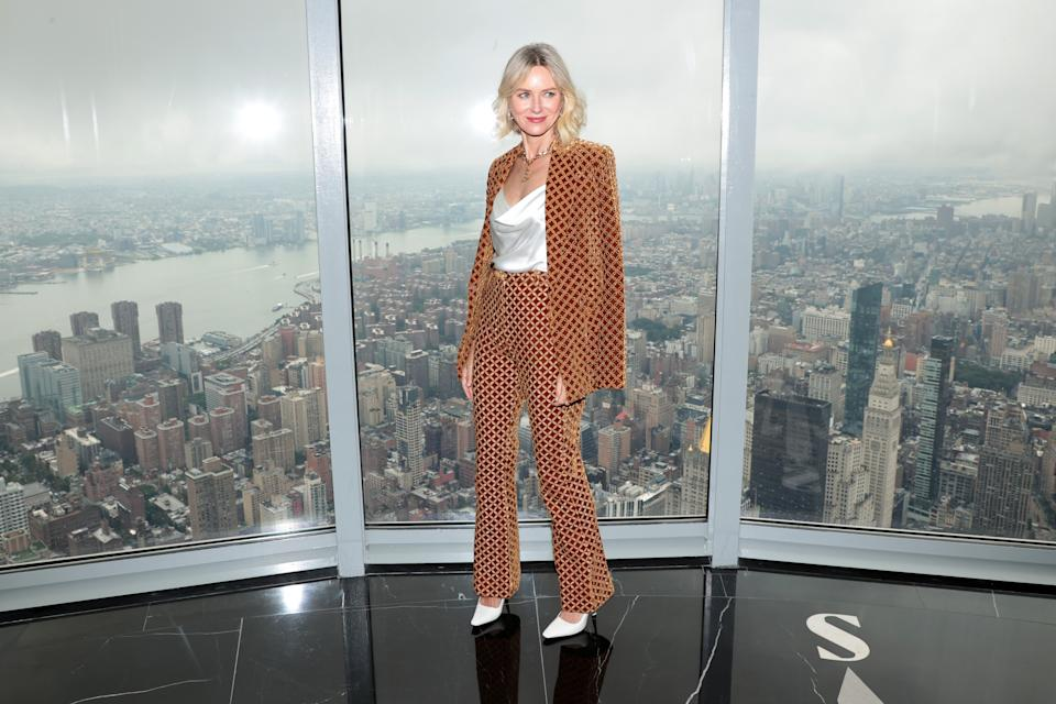 NEW YORK, NEW YORK - SEPTEMBER 09: Naomi Watts kicks off New York Fashion Week at The Empire State Building on September 09, 2021 in New York City. (Photo by Dimitrios Kambouris/Getty Images for Empire State Realty Trust, Inc.)