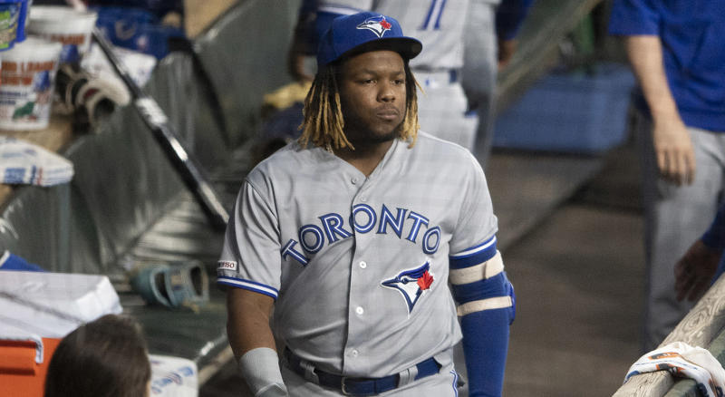 The Blue Jays shouldn't mess around with Vladdy's health. (Tommy Gilligan-USA TODAY Sports)