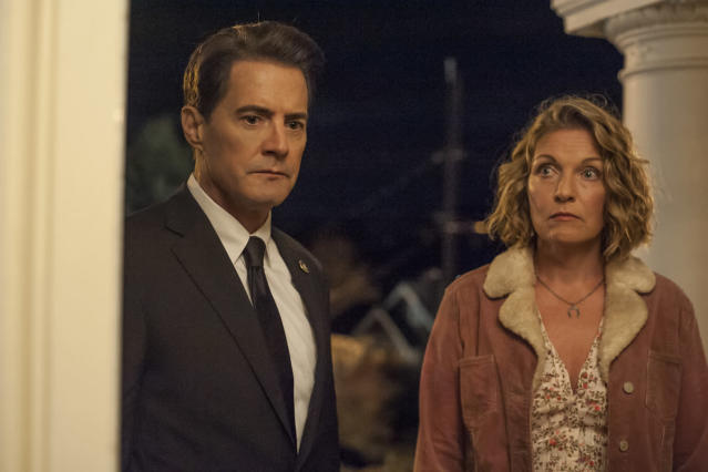 "Kyle MacLachlan and Sheryl Lee in the final scene of Twin Peaks: The Return."" (Photo: Suzanne Tenner/Showtime)"