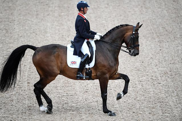 Equestrian - FEI European Championships 2017 - FEI Grand Prix Final Dressage - Ullevi Stadium - Gothenburg, Sweden - August 25, 2017 - Carl Hester of Britain competes on his horse Nip Tuck. TT News Agency/Pontus Lundahl via REUTERS ATTENTION EDITORS - THIS IMAGE WAS PROVIDED BY A THIRD PARTY. SWEDEN OUT. NO COMMERCIAL OR EDITORIAL SALES IN SWEDEN