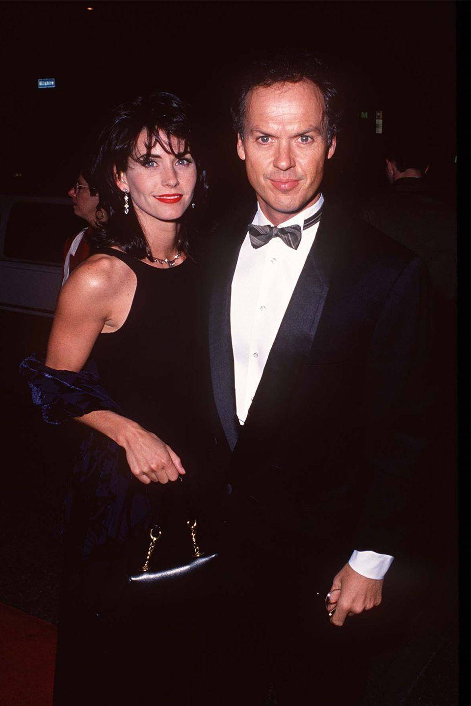 """<p>Courteney Cox and Michael Keaton dated for nearly six years, during which time they would bring home scripts and practice running lines together. Sadly, they made a joint decision to end their relationship in 1995. """"It's the most important relationship I've ever had, and I think he's the most wonderful person I've ever met,"""" Cox <a href=""""http://people.com/archive/cover-story-handy-woman-vol-44-no-22/"""" rel=""""nofollow noopener"""" target=""""_blank"""" data-ylk=""""slk:told People"""" class=""""link rapid-noclick-resp"""">told <em>People</em></a> in an interview that year.</p>"""