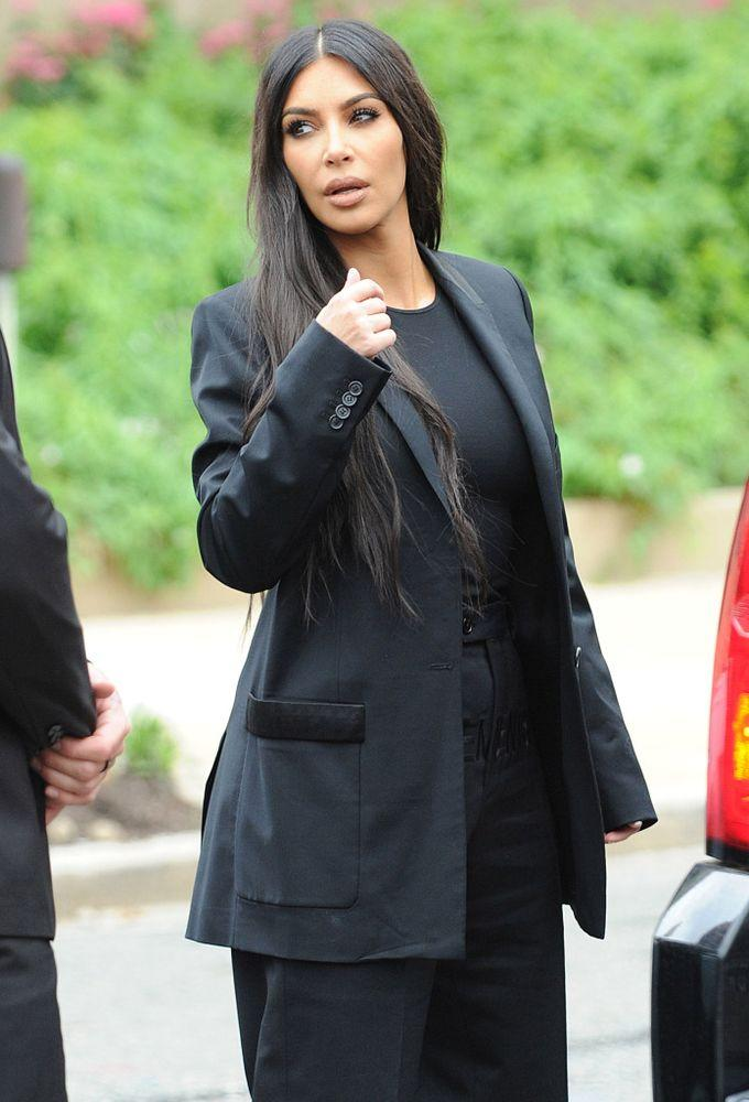 Kim Kardashian West arrives at the White House last May | Splash News Online