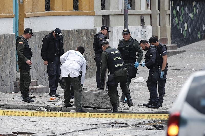 Police officer killed in Bogota explosion