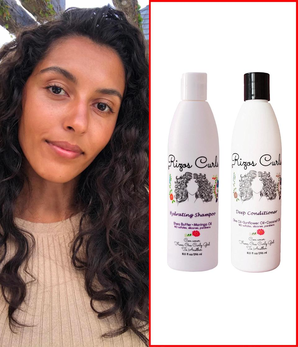 """I've been using <a href=""""https://www.target.com/p/rizos-curls-hydrating-shampoo-10-fl-oz/-/A-76559375"""" rel=""""nofollow noopener"""" target=""""_blank"""" data-ylk=""""slk:Rizos Curls Hydrating Shampoo"""" class=""""link rapid-noclick-resp"""">Rizos Curls Hydrating Shampoo</a> for my weekly wash days. It gets rid of the flaky, dry product build up that usually happens with all the products I use and has a lovely creamy lather. The <a href=""""https://amzn.to/3ojNJXF"""" rel=""""nofollow noopener"""" target=""""_blank"""" data-ylk=""""slk:Deep Conditioner"""" class=""""link rapid-noclick-resp"""">Deep Conditioner</a> is so hydrating and doesn't contain silicones or sulfates. My hair seriously feels like silk when wet and dries super soft. Plus I love the story behind the brand. The founder is a Latina woman with curly hair who made this line for others, like herself, who were having a hard time figuring out their hair and how to treat it. It's highly relatable. <em>—</em><a href=""""https://www.instagram.com/taliamichelee/"""" rel=""""nofollow noopener"""" target=""""_blank"""" data-ylk=""""slk:Talia Gutierrez"""" class=""""link rapid-noclick-resp""""><em>Talia Gutierrez</em></a><em>, beauty assistant at</em> Glamour $20, Target. <a href=""""https://www.target.com/p/rizos-curls-hydrating-shampoo-10-fl-oz/-/A-76559375"""" rel=""""nofollow noopener"""" target=""""_blank"""" data-ylk=""""slk:Get it now!"""" class=""""link rapid-noclick-resp"""">Get it now!</a>"""