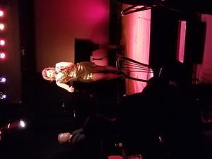 Cindy performing in her one-woman musical show, Liberate Your Voice, based on the book of the same title at the Duplex Cabaret Theater, in New York City, NY.