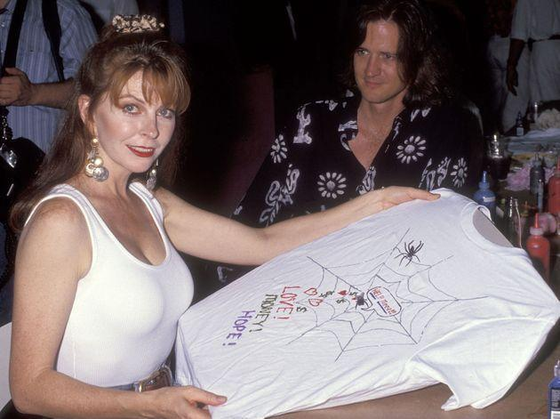 Peterson attends the 1991 Northern Lights Alternatives / LA t-shirt auction and fashion show (Photo: Ron Galella via Getty Images)