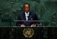 FILE PHOTO: Idriss Deby Itno, President of the Republic of Chad, addresses the 69th United Nations General Assembly at the U.N. headquarters in New York