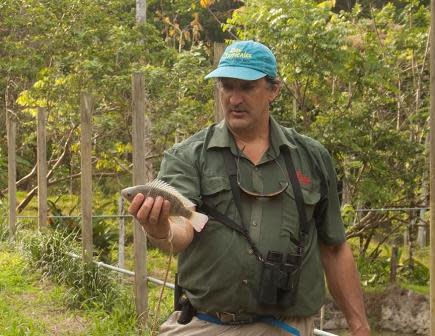 Rafael Gallo owner of Rios Tropicales with Tilapia - Photo: Pete Monfre