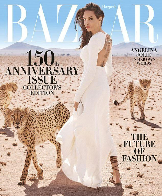 The actress appears on the cover of the 150th anniversary issue of the mag. Source: Harper's Bazaar/Alexi Lubomirski