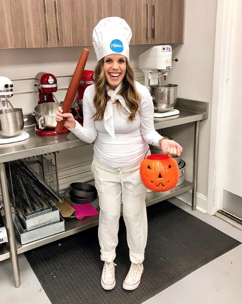 """<p>While your bun cooks in the oven, rise to the occasion (get it?!) this Halloween with an easy Pillsbury baker's outfit. It's a breadwinner in our book. </p><p><a class=""""link rapid-noclick-resp"""" href=""""https://www.amazon.com/Hyzrz-Adjustable-Elastic-Kitchen-Cooking/dp/B01HAGXX8C/?tag=syn-yahoo-20&ascsubtag=%5Bartid%7C10050.g.4972%5Bsrc%7Cyahoo-us"""" rel=""""nofollow noopener"""" target=""""_blank"""" data-ylk=""""slk:SHOP BAKER HATS"""">SHOP BAKER HATS</a></p>"""