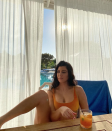 """<p>One thing Kourtney prioritizes from morning to night is staying hydrated—sometimes by drinking alkaline water or adding chlorophyll or apple cider vinegar drops into her beverage. """"I'm constantly sipping on something in an effort to never let myself get dehydrated,"""" Kourtney <a href=""""https://poosh.com/kourtney-kardashian-daily-tonics-supplements/"""" rel=""""nofollow noopener"""" target=""""_blank"""" data-ylk=""""slk:wrote on Poosh"""" class=""""link rapid-noclick-resp"""">wrote on Poosh</a>. </p>"""