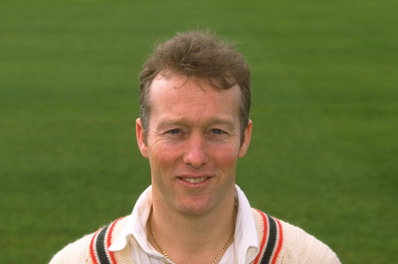 27 Mar 1998:  Portrait of Vince Wells of  Leicestershire CCC at the County Ground in Leicester, England. \ Mandatory Credit: Mark Thompson /Allsport