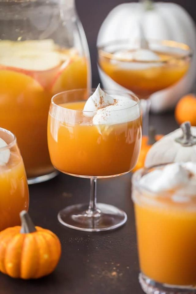 "<p><a href=""http://www.thecookierookie.com/pumpkin-pie-punch/"" target=""_blank"" class=""ga-track"" data-ga-category=""Related"" data-ga-label=""http://www.thecookierookie.com/pumpkin-pie-punch/"" data-ga-action=""In-Line Links"">This recipe</a> combines yummy pumpkin with sweet cream soda. Bonus: it comes with both alcoholic and non-alcoholic versions!</p>"