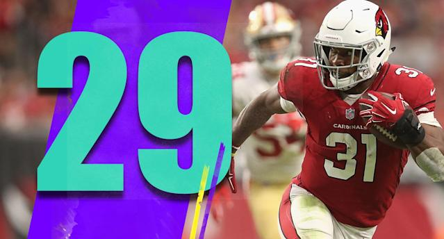 <p>David Johnson has had more than 20 touches in a game just once this season. The Cardinals can't sustain drives and game scripts have been bad, but the first game-plan meeting each week for the offensive coaches should start with how they'll get Johnson more than 20 touches. (David Johnson) </p>