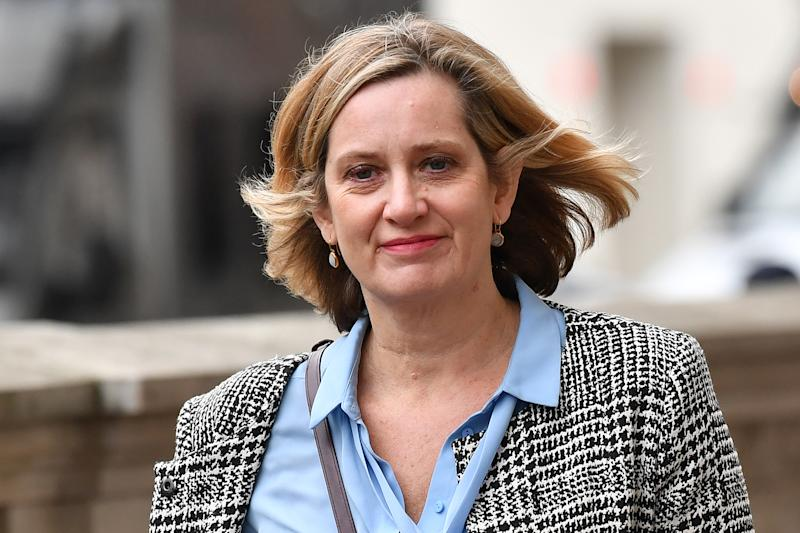 "Britain's former Work and Pensions Secretary and Women's minister Amber Rudd walks along Whitehall in central London on October 21, 2019. - UK Parliament Speaker John Bercow blocked British Prime Minister Boris Johnson from holding a vote Monday on his new Brexit divorce deal after MPs failed to back it on Saturday. ""The motion will not be debated today as it would be repetitive and disorderly to do so,"" Bercow told lawmakers in the House of Commons. (Photo by Ben STANSALL / AFP) (Photo by BEN STANSALL/AFP via Getty Images)"