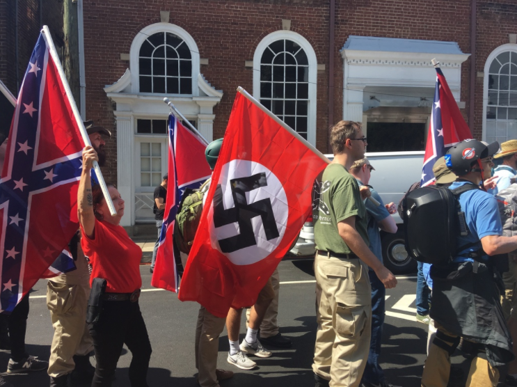 Nazis came in droves to a rally in Virginia. (Andy Campbell / HuffPost)
