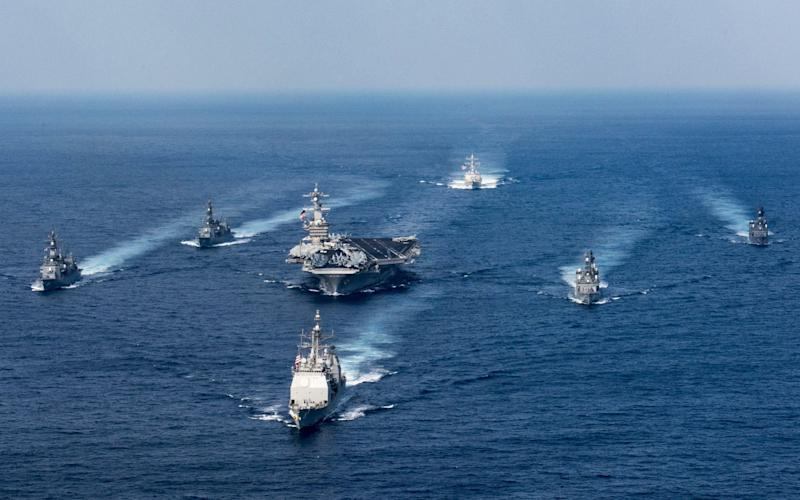 USA Naval Task Force North Korea, including the USS Carl Vinson aircraft carrier - US Navy