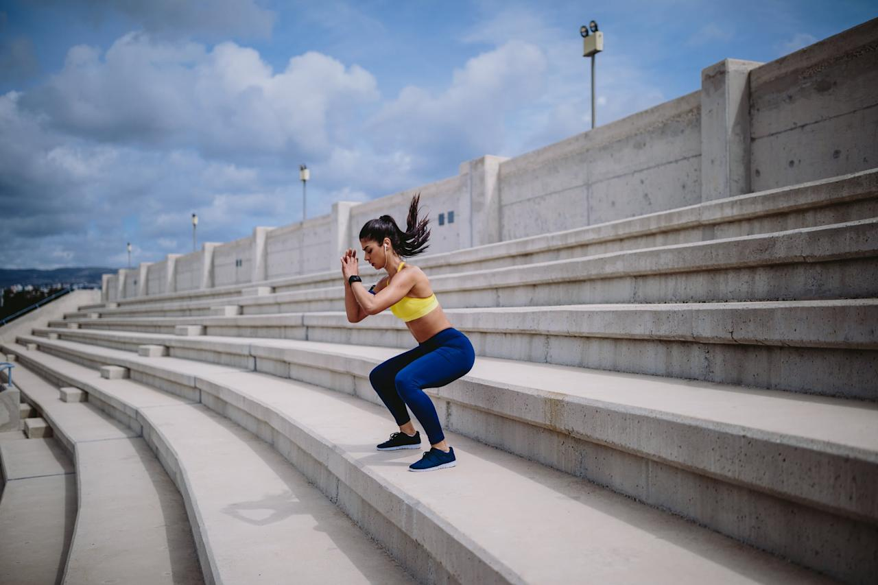 """<p>It's important that you do a dynamic warmup before you pick up a set of dumbbells. This helps you <a href=""""https://www.popsugar.com/fitness/Should-I-Stretch-Before-After-Working-Out-45960217"""" class=""""ga-track"""" data-ga-category=""""Related"""" data-ga-label=""""https://www.popsugar.com/fitness/Should-I-Stretch-Before-After-Working-Out-45960217"""" data-ga-action=""""In-Line Links"""">stretch and activate your muscles</a> at the same time, and it doesn't have to be complicated. """"My favorite warmup is walking backwards,"""" Eric said. """"It raises agility, increases balance, and teaches your body a new skill to be stored away for later in your muscle memory. It also forces the hip flexor, a muscle that spends most of its life moving forward, to shoot backwards, putting your body in a state of shock.""""</p> <p>Eric recommends a six- to 12-minute warmup (choose <a href=""""https://www.popsugar.com/fitness/Should-I-Warm-Up-Before-Weightlifting-44988826"""" class=""""ga-track"""" data-ga-category=""""Related"""" data-ga-label=""""https://www.popsugar.com/fitness/Should-I-Warm-Up-Before-Weightlifting-44988826"""" data-ga-action=""""In-Line Links"""">one or more of these dynamic exercises</a>) to get the most out of your strength-training circuit.</p>"""