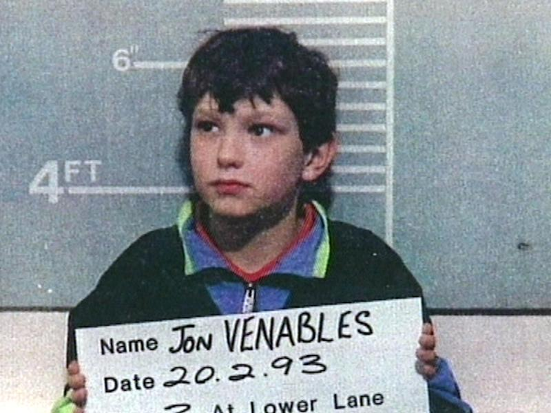 Jon Venables was ten when he killed two-year-old James Bulger