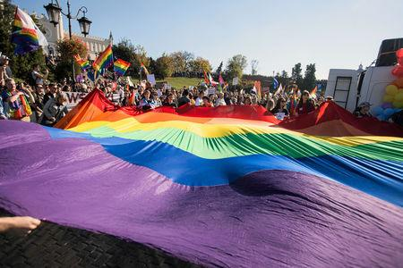 """Participants attend """"Equality Parade"""" rally in support of the LGBT community in Lublin"""