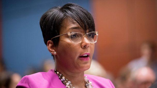 PHOTO: In this July 17, 2019, file photo, Atlanta Mayor Keisha Lance Bottoms speaks during a Senate Democrats' Special Committee on the Climate Crisis on Capitol Hill in Washington. (Andrew Harnik/AP, File)