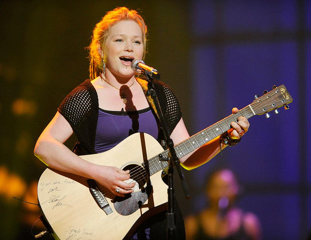 """Idol"" hopeful Crystal Bowersox dominated the news headlines this week when her hospitalization for complications from diabetes caused a last-minute boy/girl schedule switch. She returned to the stage Wednesday with a rousing rendition of Creedence Clearwater Revival's ""As Long as I Can See the Light."" What a trooper. Frank Micelotta/<a href=""http://www.fox.com"" target=""new"">FOX.com</a> - March 3, 2010"