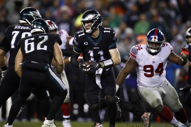 Image result for Philadelphia Eagles escape Giants in overtime to lead NFC East on 6-7
