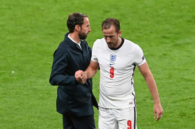 England forward Harry Kane walks off the pitch after being substituted