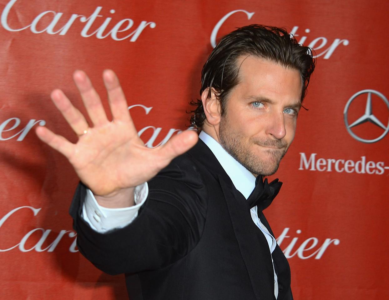 PALM SPRINGS, CA - JANUARY 05:  Actor Bradley Cooper arrives at The 24th Annual Palm Springs International Film Festival Awards Gala on January 5, 2013 in Palm Springs, California.  (Photo by Frazer Harrison/Getty Images)