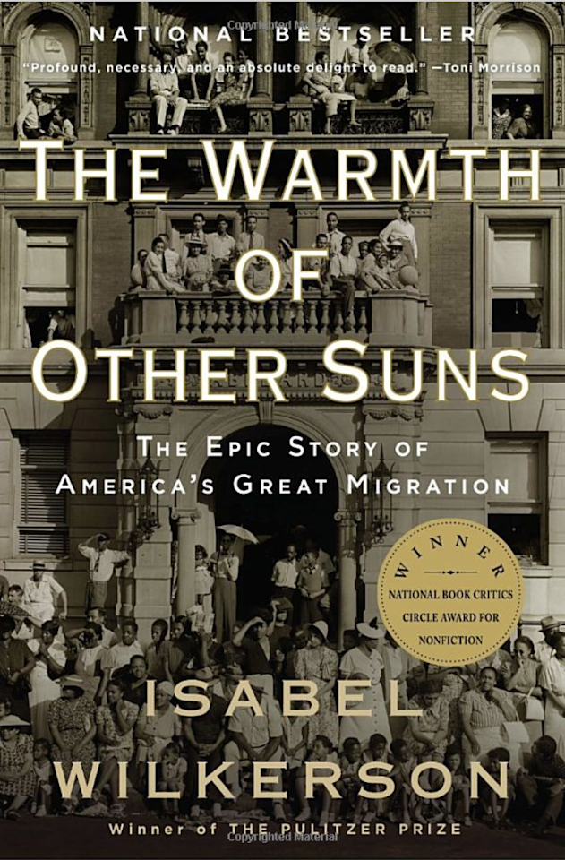 """<p>The gorgeous prose, meticulous history and sweeping narrative of Isabel Wilkerson's once-in-a-generation book are enough to leave a lasting imprint on the reader. But its subversive power is the way that <em>Warmth</em> paints the Great Migration—that 6-million strong mass movement of black Americans out of thefeudalSouth—as a classic immigration story of a people fleeing their native lands in the quest to be free. But in this case, the migrants were fellow Americans seeking refuge both<em>from</em>and<em>in</em>their own country. A remarkable book.</p> <p><em>—Nikole Hannah-Jones, staff writer for the New York Times Magazine, and co-creator of the Ida B. Wells Society for Investigative Reporting. She conceived and contributed to</em> <a href=""""https://www.nytimes.com/interactive/2019/08/14/magazine/1619-america-slavery.html"""" rel=""""nofollow""""><em>The 1619 Project</em></a> <em>for the New York Times.</em></p>"""