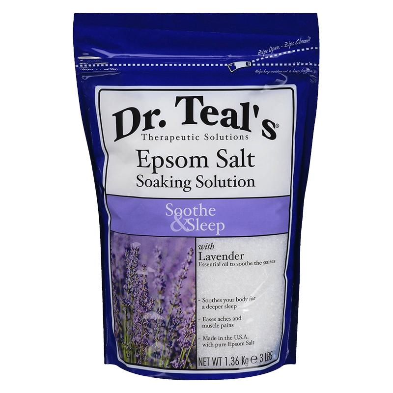 "<p>Sleep not really happening these days? Skip counting sheep and draw yourself a bath. These Epsom bath salts from Dr. Teal's are made with lavender essential oil to promote relaxation while still tending to your aching muscles. </p> <p>$4 | <a rel=""nofollow"" href='http://www.target.com/p/dr-teal-s-epsom-salt-soaking-solution-soothe-sleep-3-lb/-/A-13417444?ref=tgt_adv_XS000000&AFID=google_pla_df&CPNG=PLA_Health+Beauty+Shopping&adgroup=SC_Health+Beauty&LID=700000001170770pgs&network=g&device=c&location=9067609&gclid=Cj0KEQiAot_FBRCqt8jVsoDKoZABEiQAqFL76LOqZDcCiXilB9nviPlgBtqAm8GRPiQjsPIB2RZEvbQaApu28P8HAQ&gclsrc=aw.ds'>SHOP IT</a></p>"