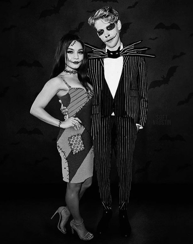 <p>Everybody knows that Jack and Sally From The Nightmare Before Christmas are both Halloween <em>and </em>winter icons (as are Vanessa Hudgens and Austin Butler). This look is perfect for people that don't want to go <em>too </em>gory but also want to look like they're very much in the spooky spirit. </p>